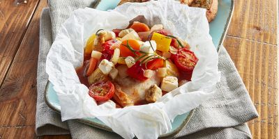 "Chicken breast ""Mediterran"" in parchment"
