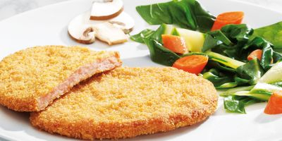"Breaded minced meat ""Hunter style"""