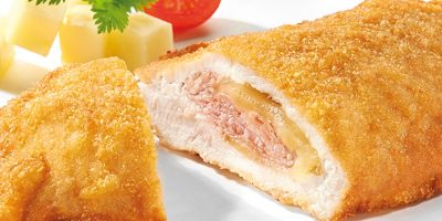 Cordon Bleu of pork with mountain cheese