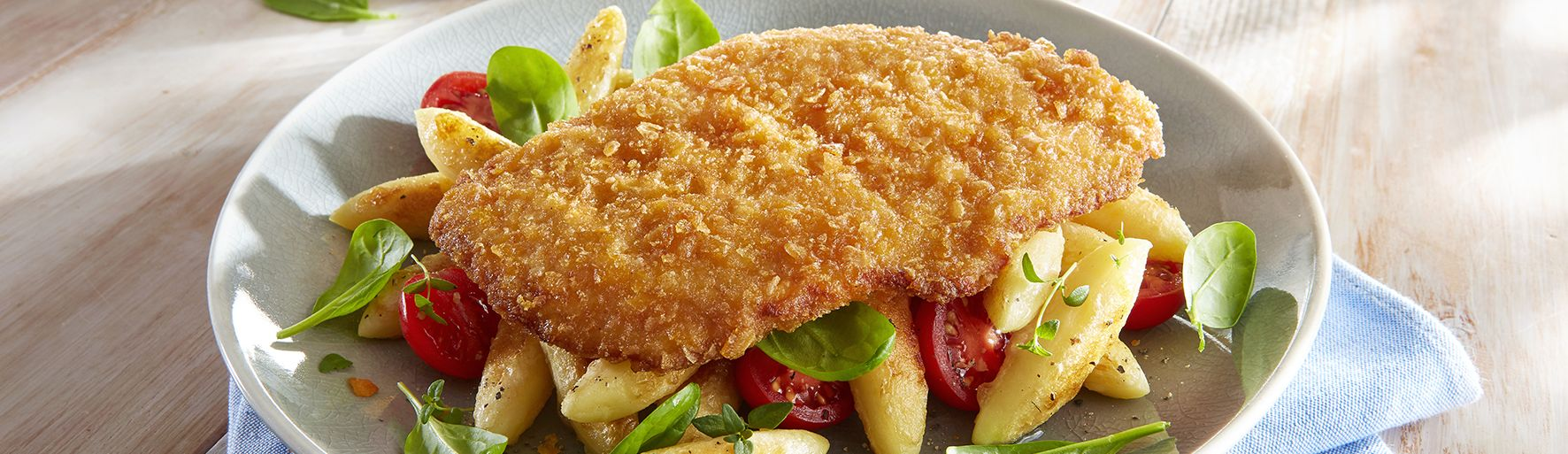 Chicken Escalope with crispy batter